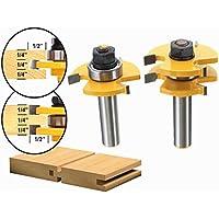 2pcs 1/2inch Shank T Ferroviario E Stile Router Bit legno