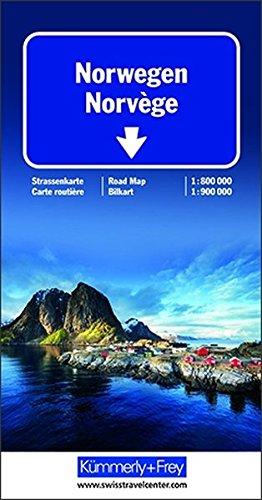 Carte de la Norvège (échelle : 1/800 000)