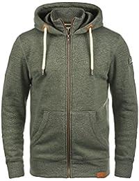 SOLID Trip-Zip Herren Sweatjacke Kapuzen-Jacke Zip-Hoodie mit optionalem Teddy-Futter aus hochwertiger Baumwollmischung