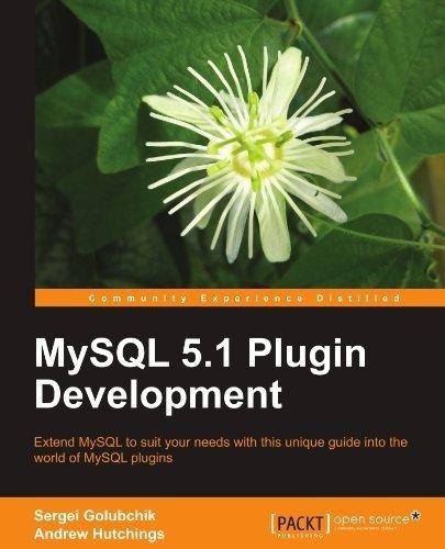 MySQL 5.1 Plugin Development by Sergei Golubchik (2010-08-26) par Sergei Golubchik;Andrew Hutchings