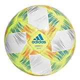 adidas CONEXT19 SAL65 Soccer Ball, Hombre, Top:White/Solar Yellow/Solar Red/Football Blue Bottom:Silver Met, FUTS