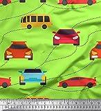 Soimoi Grun schwere Leinwand Stoff Auto & Bus Transport
