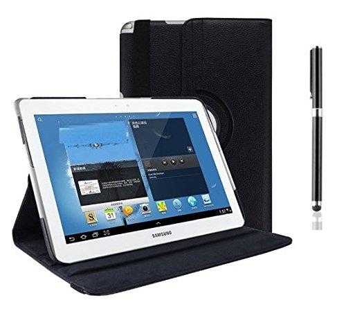 inShang Hülle für Samsung Galaxy Tab / Tab2 10.1 P7500/ P5100 Tablet Case Cover, Edles PU Leder Tasche Hülle Skins Schutzhülle, 360 Grad rotierende Schutzhülle mit Standfunktion