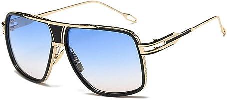 b40b1a5734c4 ... Vintage Men Sunglasses Brand Designer Male Flat Top Big Women Fashion  Retro Clear Eyewear ...