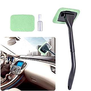 AutoEC Auto Glasreiniger Wiper hält Autos Fahrzeuge Innen Außenwindschutzscheiben Windows Clean, kommen mit 2 Pads Washer Handtuch und 30ml Sprühflasche, Verwendung nass oder trocken