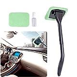 AutoEC parabrezza Cleaner Tool, parabrezza tergicristallo, come con 2cuscinetti rondella asciugamano e 30ml flacone spray, per uso in interni auto esterno Windows, asciutto o bagnato