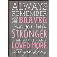 Siempre recuerda You Are Braver than you think 4 x 6 de pared placa