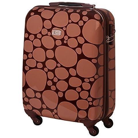 maleta rígida de viaje TSA Equipaje De Mano 30 Litros Cantos rodados Marrón 813