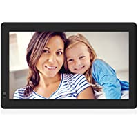 Nixplay Seed WiFi 13 inch Widescreen Photo Frame with Alexa integration, iPhone & Android App, Free 10GB Online Storage, and Motion Sensor, Black - W13B