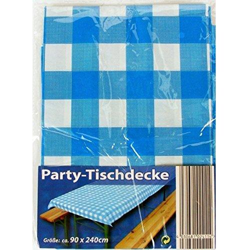 2x Party-Tischdecke Blau Weiß Bierzelt Garnitur Garten Bierbank Biertisch Fest - 2