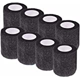 Ranchoman Pack of 8 Non-Woven Self Adhesive Wrap Bandages, Strong Elastic Self Adherent Cohesive Tape Bandages Rolls