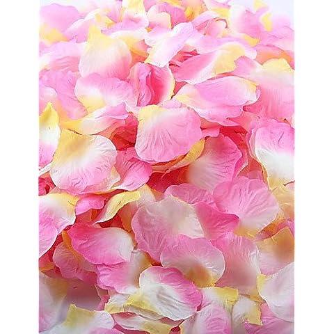 flores artificiales, 100 pcs artificial pétalo de rosa para la decoración del partido
