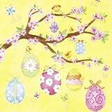 ti-flair - Servietten - Springtime Feeling yellow - Ostern / Eier / Ast