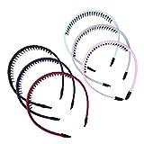 Frcolor Kunststoff Haarreifen Zähne Kamm Haar Hoop für Mädchen Frauen