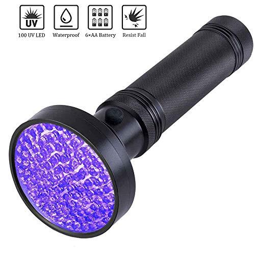 Youyababay Linterna luz Negra 2 en 1 Luz UV con 365nm Impermeable, Detector de orina para Mascotas, Perros y Gatos, Lámpara UV para Inspección de Agentes Fluorescentes