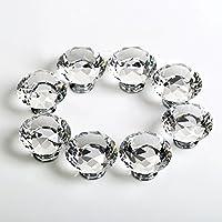 Boxcute 8x Diamant Kristall Moebelknopf Moebelknoepfe Moebelgriffe Moebelknauf Griff Knopf Schrankgriff