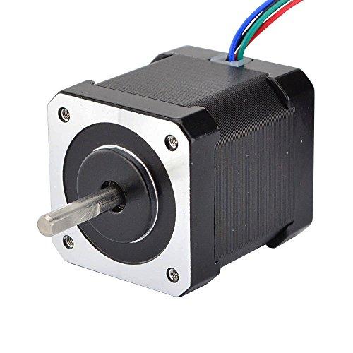 STEPPERONLINE Schrittmotor Nema 17 Stepper Motor 59Ncm 2A 1.8deg 2 Phase 4-Draht Stepping Motor w/1m Kabel & Verbinder für 3D Drucker/CNC Reprap -