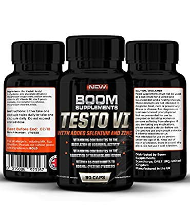 Testosterone Boosters - #1 Proven Testosterone Boosting Supplement *. 100% MONEY BACK GUARANTEE | 90 Capsules | It Contributes to *Normal Testosterone Levels, *Reduction in Fatigue, & *Normal Energy-Yielding Metabolism *100% PURE, *Best NATURAL Testostero