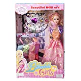 Doll Princess With Dolls Cloths And Crown