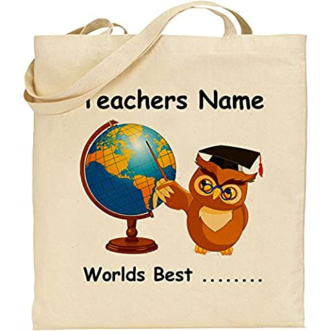 'Worlds Best'......... Teacher coton naturel sac