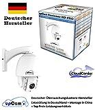 upCam Hurricane HD PRO IP Kamera - Full HD PTZ cam 1080p SONY Sensor, Nachtsicht, Wetterfest (WLAN, App, SD Karte, Cloud, Weitwinkel Objektiv, Outdoor Überwachungskamera, schwenkbar) Optischer Zoom 3x + Digital 10x / Gesamt 30x Vergrößerung - Deutscher Hersteller und Support -