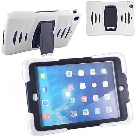 Xtra-Funky Exclusivo iPad 2/3/4 Altas prestaciones de doble capa de silicio y plástico que absorbe los choques Funda protectora último con construido en soporte y la capa de pantalla protectora -