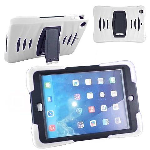 Xtra-Funky Exclusif: iPad 2/3/4 Robuste double couche de silicium et plastique antichoc étui de protection ultime avec construit dans le support et la couche d'écran protecteur -