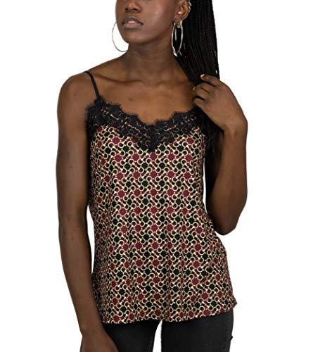 Mer's Style - Top Camiseta Encaje Tirantes Mujer