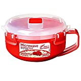 Sistema Microwave Breakfast Bowl - 850 ml, Red/Clear