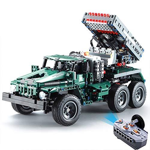 AIYA 1369pcs RC Rocket Launcher Truck Car 2in1 Creator Technic Military Power Funcation MOC Building Blocks Bricks legoings Toys for Birthday Gift Boys