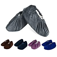 HOGAR AMO 5 Pairs Reusable Shoe Cover Non-Slip Washable Shoe/Boots Cover Dustproof Overshoes for Household Indoor Workplace