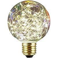 Decorativo Lampadine Edison, xinrong nuovo cielo stellato LED filo di rame luci E27220V 1,6W Risparmio Energetico buld per interni vintage Natale vacanze Ciondolo Luce Decorazione, Multi, 12.0 * 8.0cm