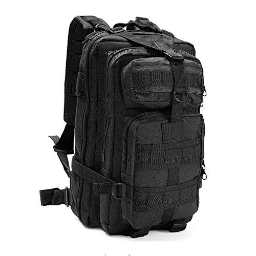 3p assault zaino camping escursioni viaggi per uomo e donna digital molle 30l zaino zainetto militare camo tactical confezioni in nylon impermeabile, black