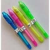 12 Stück Geheimstifte, mit UV Licht, Unsichtbar Schreiben, Geheime Nachrichten, Geheim Stift