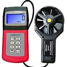 Anemometro con Termometro - Misuratore Aria / Vento PRO (AM-4836V)