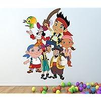 1Stop Graphics Shop Jake y los Netherland pirates A TODO COLOR adhesivo pared - Niña Niño DISNEY DORMITORIO C128 - Large: 60 cm x 80 cm