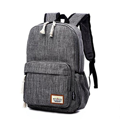 F@Männer und Frauen große Leinwand Reisetasche im Freien, Art und Weise Schulterbeutel, Laptoprucksack Student gray