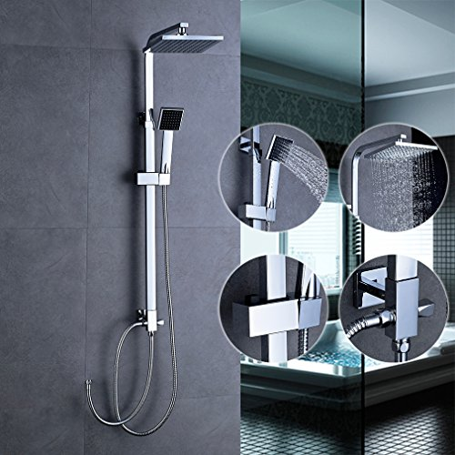 bonade dusche regendusche set duschset ohne duscharmatur f r badezimmer und badewanne mit 8 inch. Black Bedroom Furniture Sets. Home Design Ideas