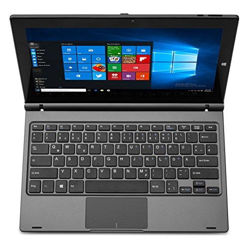 HKC T11JC DE 2in1 Convertible Laptop tablet 116 IPS filled HD 1920x1080 Touchscreen Intel Z8350 2GB RAM 32GB eMMC Micro SDXC Card Reader USB Micro HDMI Wi Fi Bluetooth Windows 10 Metal Grey Deutsch Tastatur Notebooks