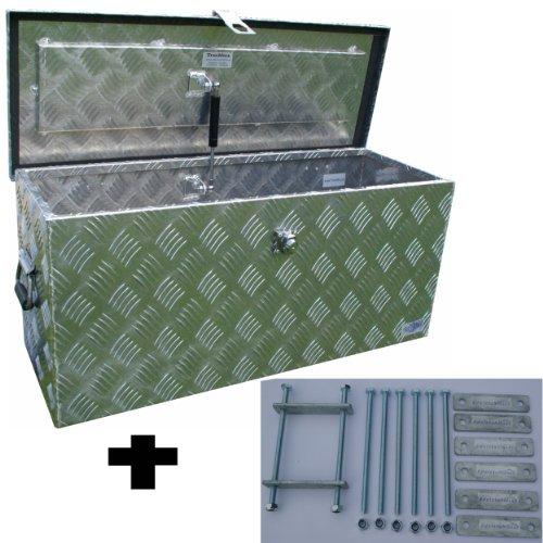 Preisvergleich Produktbild Truckbox D080 + MON2014 Werkzeugkasten, Deichselbox, Transportbox, Alubox, Alukoffer