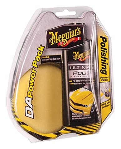 Meguiar`s ME G3502INT Power Pack Polish, 118 ml et 1 Pad pour Dual Action Polisher