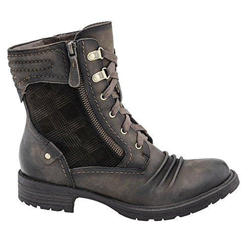 Earth Summit Rund Leder Stiefel Stone Vintage