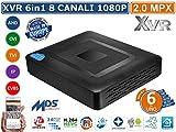 XVR DVR 5in1 AHD CVI TVI CVBS IP 8 CANALI UTC FULL HD 1080P P2P CLOUD HDMI WIFI READY