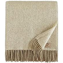 3e6cc3a9384 Amazon.fr   couverture laine - Beige