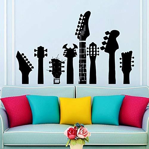 WWYJN Wall Decals Various Guitar Necks Wall Sticker Fingerboard Vinyl Sticker Teen Boys Room Decoration Vinyl Guitar Wall Mural White 68x42cm - Apple Gepäck-tag