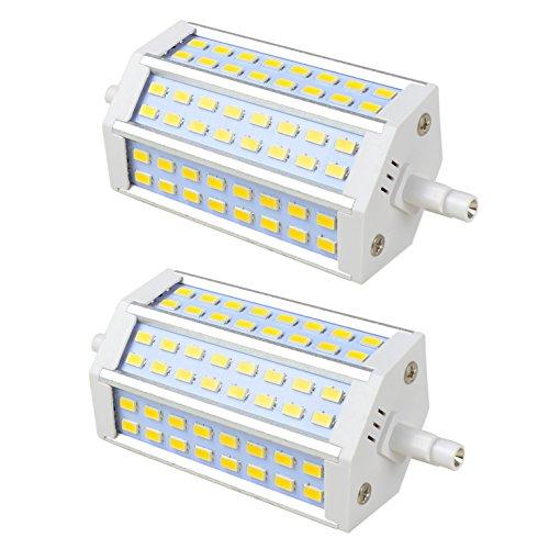 2X R7S 118mm LED 12W Kaltweiß T3 Lampe MENGS J118 kurze Birne 48X5730 Doppelseitiger J Typ Glühlampen 150W Halogenlampe Flutlicht Ersatz, für Arbeitslicht Flutlicht[Energieklasse A+] - T3 150w Halogenlampe