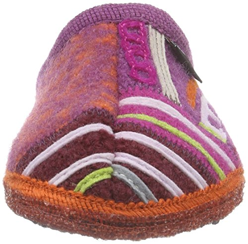 Haflinger Phantasy Unisex-Erwachsene Flache Hausschuhe Mehrfarbig (43 rost)