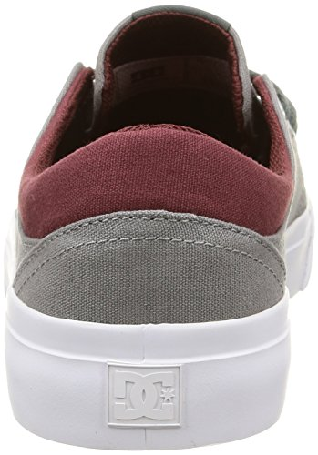 DC Shoes Trase Tx M, Baskets Basses Homme Multicolore (Oxblood/Lt Grey)