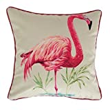 McAlister Textiles Digitally Printed | Flamingo Kissenbezug 40cm x 40cm | Digitaldruck Deko Kissenhülle für Sofa, Bett, Couch, Kissen