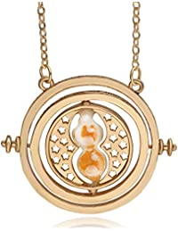 TBOP NECKLACE Harry Potter Jewellary Time Converter Hourglass Alloy Necklace In Yellow Color